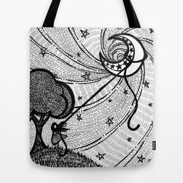 Aim for the Moon Tote Bag