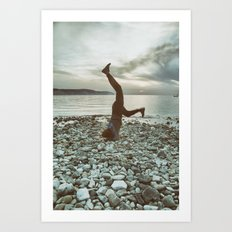 Life is not a perfect yoga pose Art Print