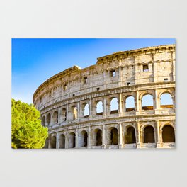 Vita Bellissima (Beautiful Life): Colosseum in Rome, Italy Canvas Print