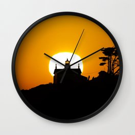 Battery Point Lighthouse at Sunset. Wall Clock