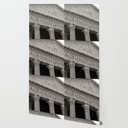 The Pantheon black and white Wallpaper