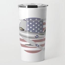 US Air Force F-86 Sabre Jet Fighter Travel Mug