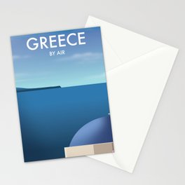 Greece By Air Vacation poster. Stationery Cards