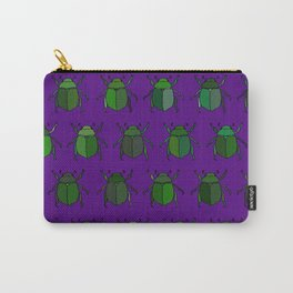 Beetle Print - Purple Carry-All Pouch