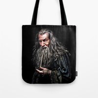 gandalf Tote Bags featuring Gandalf  by DavinciArt