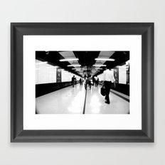 Underground [Black & White] Framed Art Print