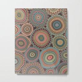 Boho Patchwork-Vintage colors Metal Print