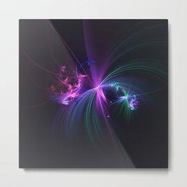 Fireworks Fractal Metal Print
