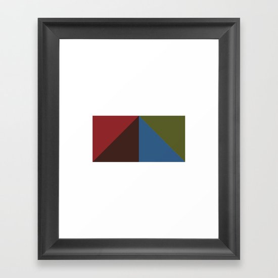 #416 Pyramid – Geometry Daily Framed Art Print
