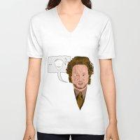 aliens V-neck T-shirts featuring Aliens? by @DrunkSatanRobot