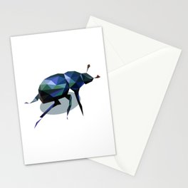 Low Poly Beetle Stationery Cards