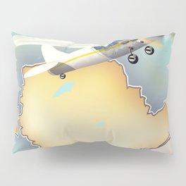 Anglesey Vintage style travel poster. Pillow Sham