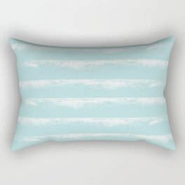 Irregular Stripes Mint Rectangular Pillow