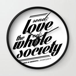 SEND LOVE Wall Clock