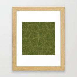 Leaf Texture Framed Art Print