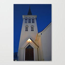 Grundarfjordur Church Canvas Print