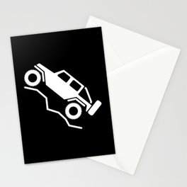 Offroad 4wd Rock Crawling Logo Stationery Cards