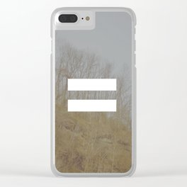 equal Clear iPhone Case