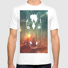 BoJack Space White MEDIUM Mens Fitted Tee