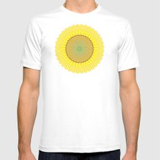 Spring Yellow Mens Fitted Tee White MEDIUM