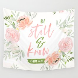 Be Still and Know Bible Verse Wall Tapestry