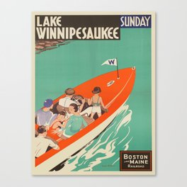 Vintage poster - Lake Winnipesaukee Canvas Print