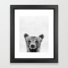 Baby Bear Peekaboo print Framed Art Print