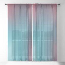 Blue Lightning Sheer Curtain