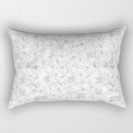 grey leaves pattern Rectangular Pillow