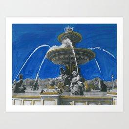 Fontaines de la Concorde Art Print