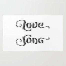 LOVE SONG ambigram Rug