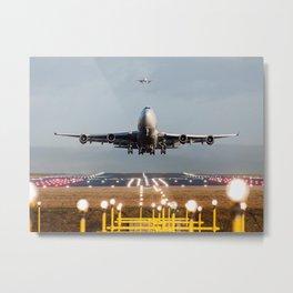 Jumbo Jet Power Metal Print