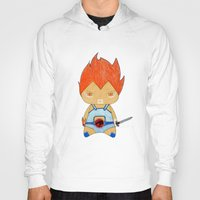 thundercats Hoodies featuring A Boy - Lion-O (Thundercats) by Christophe Chiozzi