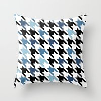 tooth Throw Pillows featuring Blue Tooth by Project M
