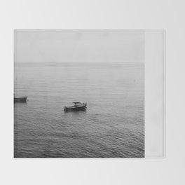 Riomaggiore Boats Throw Blanket