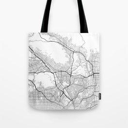 Minimal City Maps - Map Of Glendale, California, United States Tote Bag