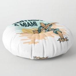 Beinvenido A Miami Floor Pillow