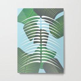 Leaf Bones Metal Print