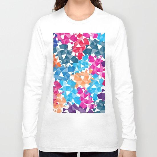Colorful geometric Shapes Long Sleeve T-shirt