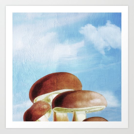 Mushroom Heaven Art Print
