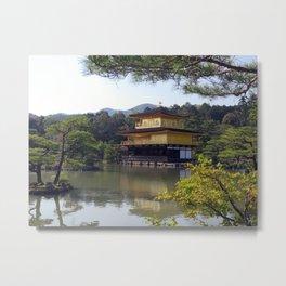 The Golden Pavilion I Metal Print