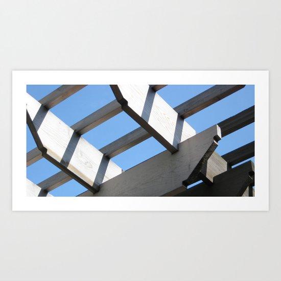 Sky Grid Art Print