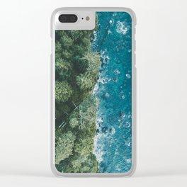Mystic Coastline Clear iPhone Case