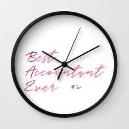 Best Accountant Ever Wall Clock