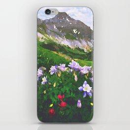 Columbine San Juan Mountains above Ouray, Colorado - Watercolor Effect iPhone Skin