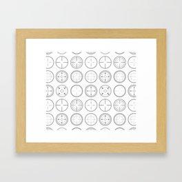 Sniper Scope Targets Framed Art Print