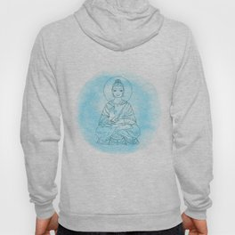 Sitting Buddha over watercolor background Hoody