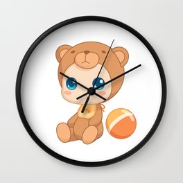 Baby in a Bear Jumpsuit Wall Clock