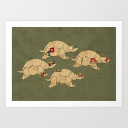 Heroes in a pizza box... Turtle Power! Art Print