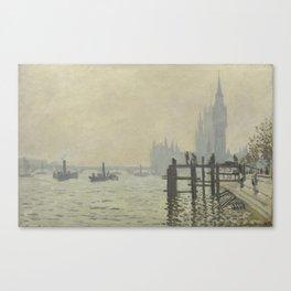 Claude Monet - The Thames Below Westminster Canvas Print